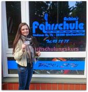 Jana Zozulin hat ihren B-Führerschein seit dem 13.05.15!