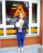 Céline Tschirpig hat ihren B-Führerschein seit dem 23.09.15!
