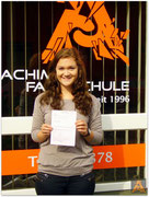 Natalie Hadam hat ihren B-Führerschein seit dem 13.07.15!