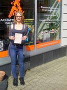 Verena Welnitz hat ihren B Führerschein seit dem 22.08.2017