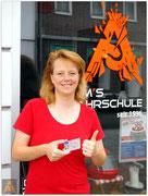 Ilona Creutz hat ihren B-Führerschein seit dem 27.08.15!