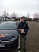 Justus-Valentin Schildener hat seinen B Führerschein seit dem 20.01.2020!