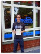 Christopher Boreham hat seinen B-Führerschein seit dem 27.06.2014!