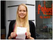 Johanna Rohrig hat ihren B-Führerschein seit dem 05.08.14!