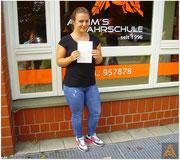 Saskia Paulsen hat ihren B-Führerschein seit dem 20.08.15!