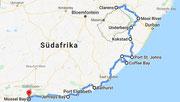 Strecke: Drakensberge - Wild & Sunshine Coast