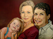 Portraitmalerei - Portrait Maler - Portraitbilder - Portraits - Acrylgemälde - Familie