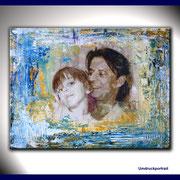 Portraitmalerei Familie - Portrait Maler Familie - Portraitbilder Familie - Familien Portraits- Umdruck Collage
