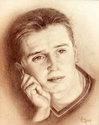 Portraitmalerei - Portrait Maler - Portraitbilder - Portraits - Kohle und Bleistiftzeichnung