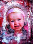 Portraitmalerei Kinder - Portrait Maler Kinder - Portraitbilder Kinder - Portraits - Umdruck Collage