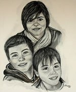 Portraitmalerei - Portrait Maler - Portraitbilder - Portraits - Acrylbild - Kinder