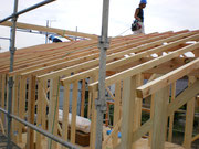 屋根垂木まで完了です。