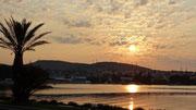Beau spectacle au coucher du soleil