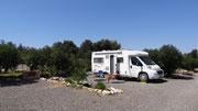 Notre emplacement au camping près d'Essaouira