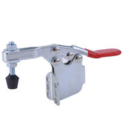Horizontal toggle clamp with side ward