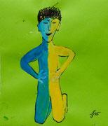 Farbe und Tusche auf Briefumschlag, 16x11cm, 10€