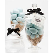 Gianna Rose Robin's eggs in a big apothecary jar