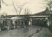 Abbruch des alten Eisenbahnviadukts im Bereich Annaberger Straße
