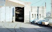 Depot Rottluff kurz vor der Ausfahrt des historischer Wagen Nr. 69
