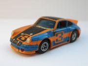 AURORA AFX Porsche Carrera blau/schwarz/orange #3