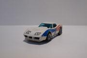 AURORA AFX Corvette Produktion A weiß / Flagge #7