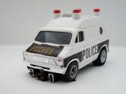 AURORA AFX Dodge Van Police weiß / schwarz