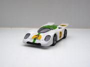 AURORA AFX Porsche 917k weiß/grün #2 klare Scheibe - geschlossene Haube