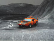AURORA AFX Daytona Charger orange/schwarz #7