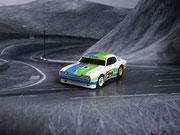 """AURORA AFX Ford Capri RS 2600 weiß-grün-blau #21 """"European Version"""""""