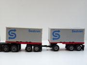 AURORA AFX '20 Flatbed mir 20' Flatbed Anhänger w. grey Container Seatrain