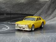 AURORA AFX Ford Escort gelb Stoßstange gold