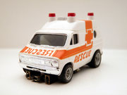 AURORA AFX Dodge Van Rescue weiß / orange