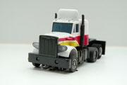 Peterbilt Truck gelaugt weiß-gelb-rot