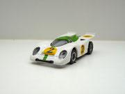AURORA AFX Porsche 917k weiß/grün #2 klare Scheibe - offene Haube