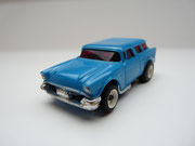 AURORA AFX 57' Chevy Nomad blau/weiße side pipes