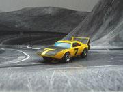 AURORA AFX Daytona Charger gelb/schwarz #7