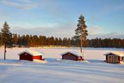 Gästehütten im Winter