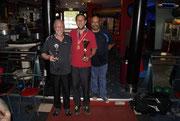 Gruppen Foto der Gewinner Einzel Herren