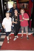 Gruppen Foto der Gewinner Einzel Damen