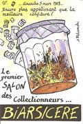 """BIARS/CERE 5 Mars 1989 1° Salon des Collectionneurs  """"dit de Printemps"""" Dessin J POLOMSKI"""