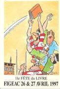 Fête du Livre Figeac 26 et 27 Avril 1997 Dessin Michel ITURRIA