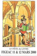 Fête du Livre Figeac 11 et 12 Mars 2000 Dessin Florence CESTAC