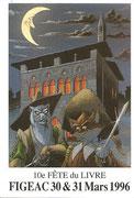 Fête du Livre Figeac 30 et 31 Mars 1996 Dessin Jean-Luc MASBOU