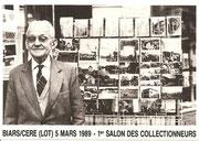 """BIARS/CERE 5 Mars 1989 1° Salon des Collectionneurs """"dit de Printemps"""""""