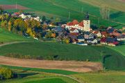 Blick vom Aussichtsturm auf Mockersdorf