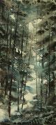 Sous bois d'Auvergne 2  - 20x45 cm
