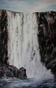 Chute de Gufufoss (Islande) 33 x53 cm