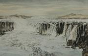 Chutes de Selfoss (Islande) - 54 x 34 cm