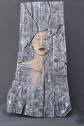 Echo, Linde, Ölfassung, 80 x 45 cm