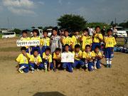 【2013年7月】第5回朝日すいかカップサッカー大会(U-10) 準優勝